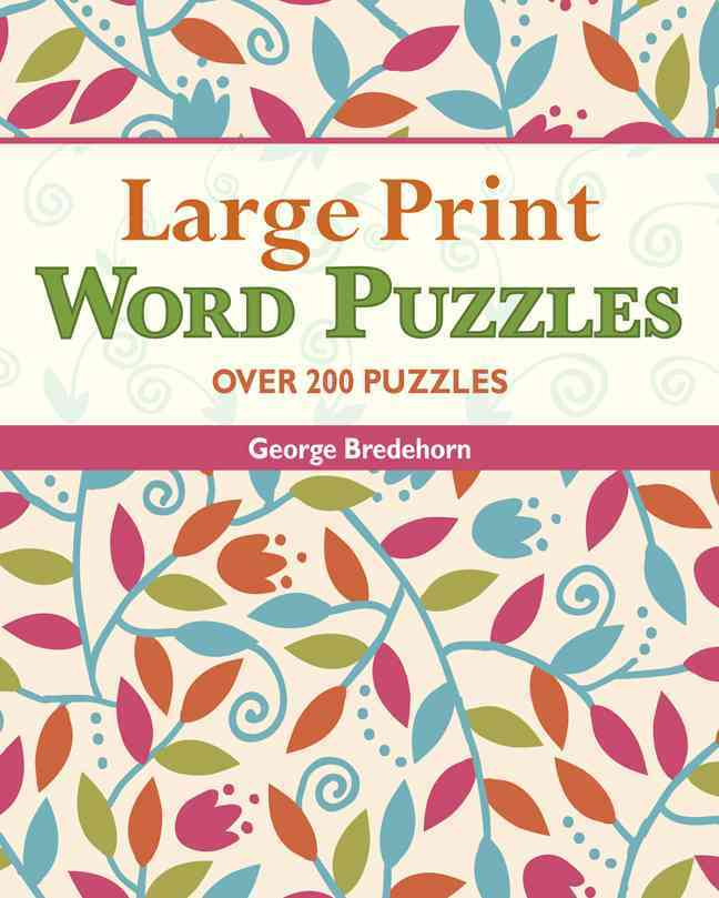 Large Print Word Puzzles By Bredehorn, George